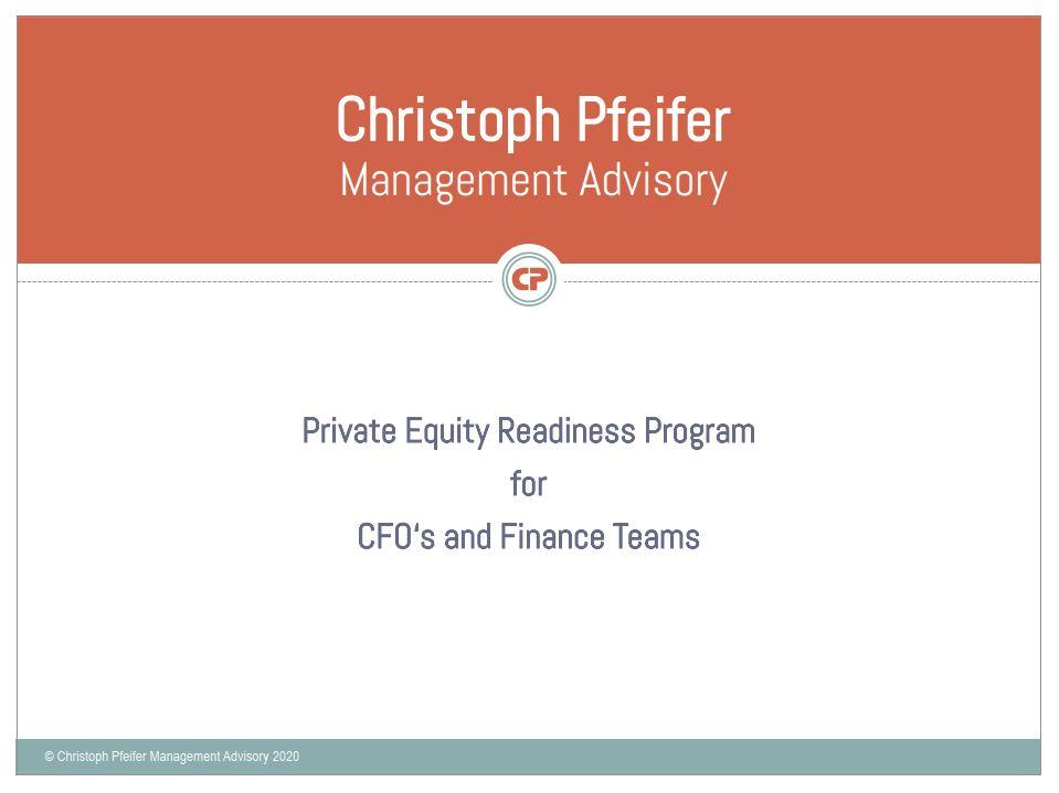 Neu – Private Equity Readiness Programm
